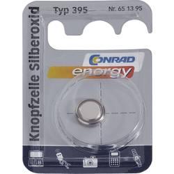 Knoflíková baterie na bázi oxidu stříbra Conrad energy SR57, velikost 395, 55 mAh, 1,55 V