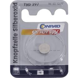Knoflíková baterie na bázi oxidu stříbra Conrad energy SR 59, velikost 397, 53 mAh, 1,55 V