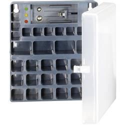 Úložný box na baterie se zkoušečkou pro AAA, AA, 9 V baterie Conrad energy