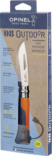 Outdoormesser mit Fangriemen Opinel No8 Outdoor 254269 Orange