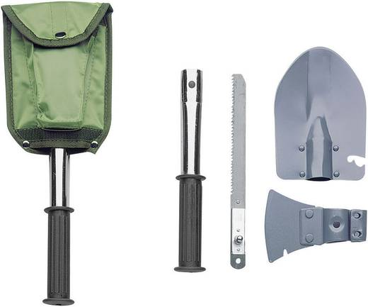 Klappspaten mit Axt, mit Hammerfläche, mit Säge, mit Tasche Herbertz 619200 Werkzeugsatz, 4teilig