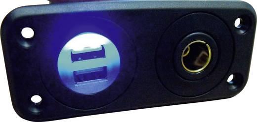 Norm-Einbausteckdose mit 2 USB-Anschlüssen Belastbarkeit Strom max.=20 A Passend für (Details) Normstecker, USB-A