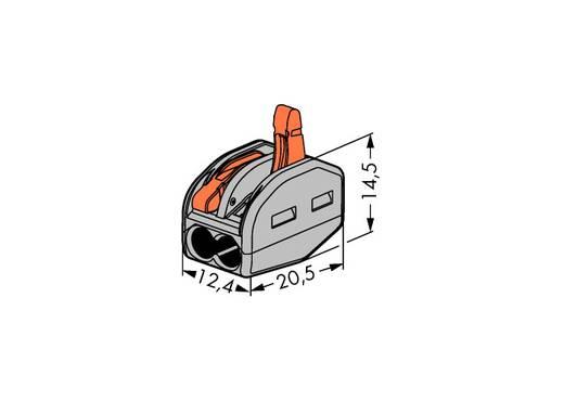 Verbindungsklemme starr: 0.08-2.5 mm² Polzahl: 2 WAGO 500 St. Grau