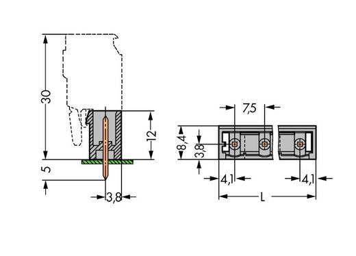 Stiftgehäuse-Platine 231 Polzahl Gesamt 13 WAGO 231-273/001-000 Rastermaß: 7.50 mm 50 St.