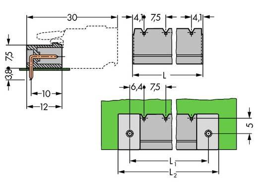 WAGO 231-838/001-000 Stiftgehäuse-Platine 231 Polzahl Gesamt 8 Rastermaß: 7.50 mm 50 St.