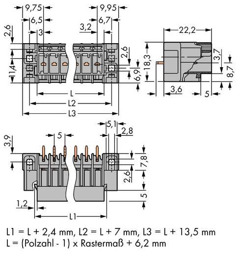Buchsengehäuse-Platine 769 Polzahl Gesamt 13 WAGO 769-643/004-000 Rastermaß: 5 mm 15 St.