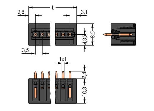 Stiftgehäuse-Platine 734 Polzahl Gesamt 14 WAGO 734-144/105-604 Rastermaß: 3.50 mm 100 St.