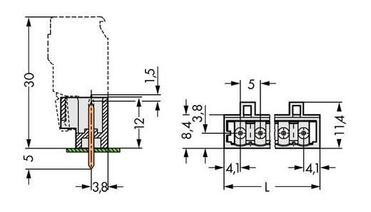 Stiftleiste (Standard) 2060 Polzahl Gesamt 3 WAGO 721-163/001-040 Rastermaß: 5 mm 200 St.