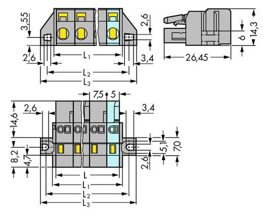 Buchsengehäuse-Kabel 231 Polzahl Gesamt 12 WAGO 231-212/031-000 Rastermaß: 7.50 mm 10 St.