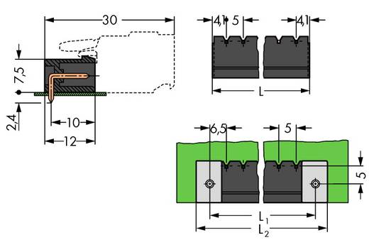 Stiftgehäuse-Platine 231 Polzahl Gesamt 8 WAGO 231-438/001-000/105-604 Rastermaß: 5 mm 100 St.