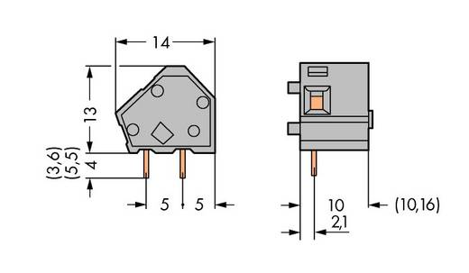 Federkraftklemmblock 2.50 mm² Polzahl 1 236-734 WAGO Blau 300 St.
