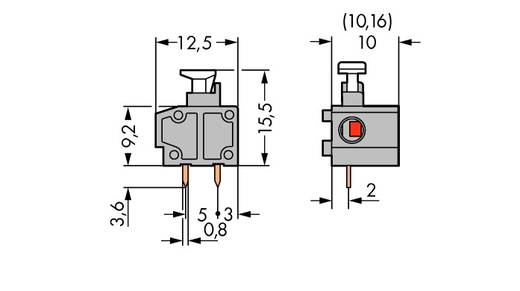 Federkraftklemmblock 0.75 mm² Polzahl 1 235-801/333-000 WAGO Grau 400 St.