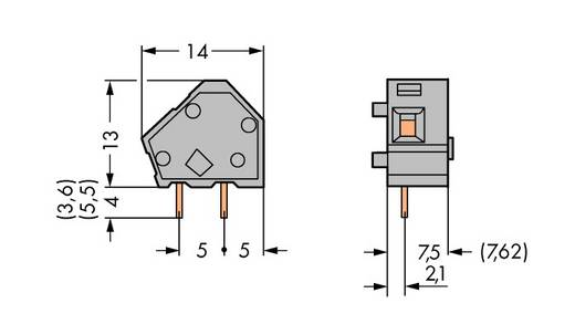 Federkraftklemmblock 2.50 mm² Polzahl 1 236-723 WAGO Lichtgrau 400 St.