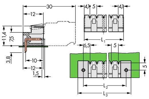 Stiftleiste (Standard) 2060 Polzahl Gesamt 5 WAGO 721-465/001-040 Rastermaß: 5 mm 200 St.
