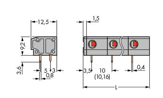 Federkraftklemmblock 1.50 mm² Polzahl 2 WAGO Grau 220 St.