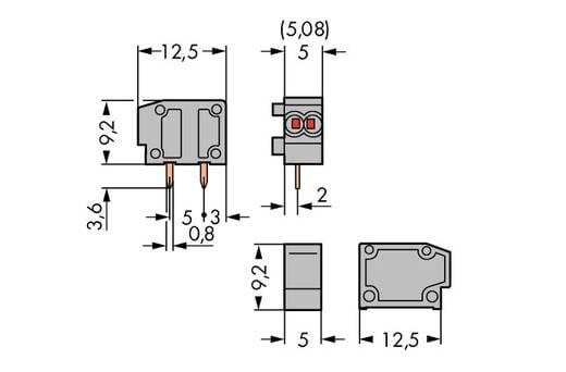 Federkraftklemmblock 0.34 mm² Polzahl 1 WAGO Blau 800 St.