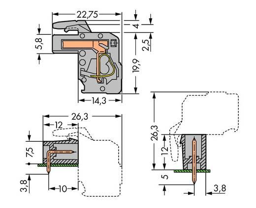 Buchsengehäuse-Platine 732 Polzahl Gesamt 8 WAGO 732-108/026-000 Rastermaß: 7.50 mm 25 St.