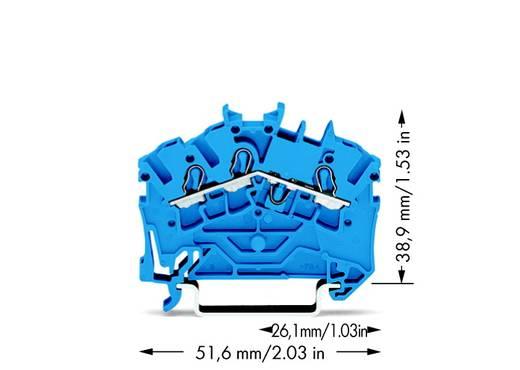Durchgangsklemme 5.20 mm Zugfeder Belegung: N Blau WAGO 2002-6304 100 St.