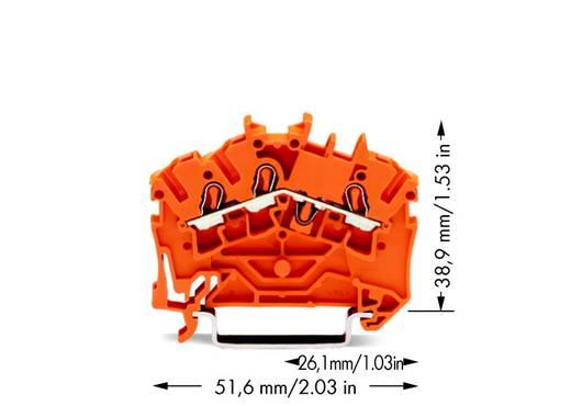 Durchgangsklemme 5.20 mm Zugfeder Orange WAGO 2002-6302 100 St.