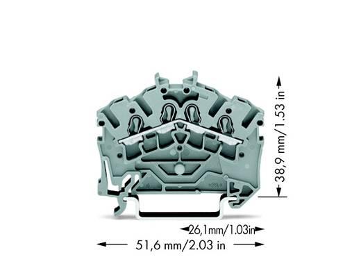 Durchgangsklemme 5.20 mm Zugfeder Belegung: L Grau WAGO 2002-6401 100 St.
