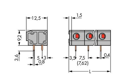 Federkraftklemmblock 1.50 mm² Polzahl 2 WAGO Grau 280 St.