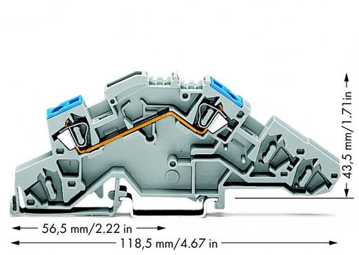 Installationsetagenklemme 6 mm Zugfeder Belegung: L Grau WAGO 776-651 50 St.