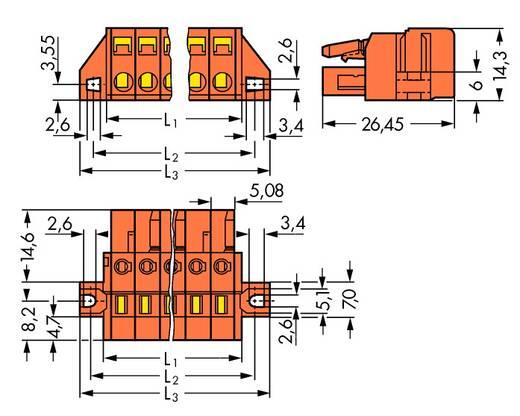 Stiftgehäuse-Platine 231 Polzahl Gesamt 7 WAGO 231-307/031-000 Rastermaß: 5.08 mm 50 St.