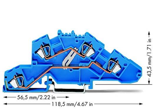 Installationsetagenklemme 6 mm Zugfeder Belegung: N Blau WAGO 777-647 50 St.