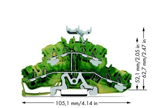 Doppelstock-Schutzleiterklemme 5.20 mm Zugfeder Belegung: PE Grün-Gelb WAGO 2002-2437 50 St.