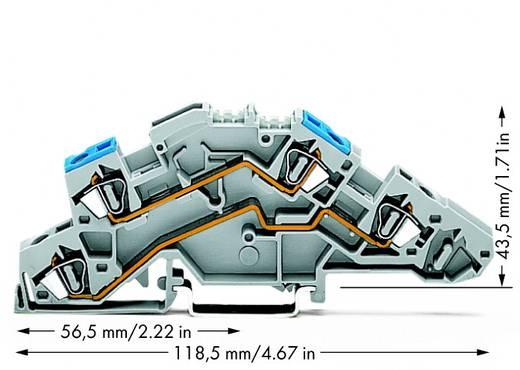 Installationsetagenklemme 6 mm Zugfeder Belegung: N, L Grau WAGO 776-649 50 St.