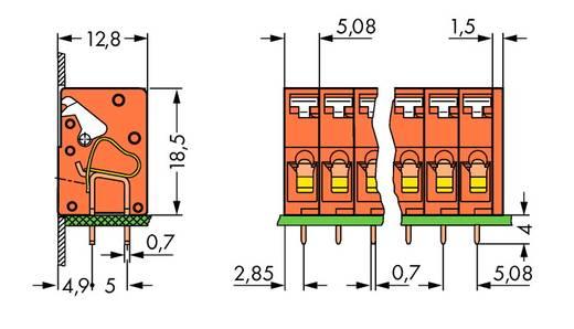 Federkraftklemmblock 2.50 mm² Polzahl 4 WAGO Orange 220 St.