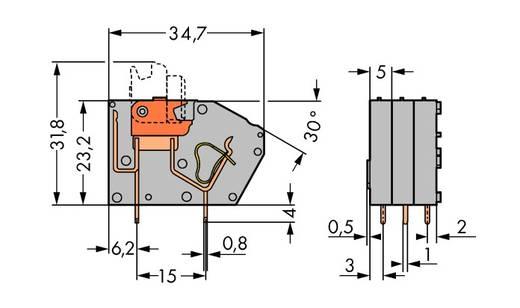 Federkraftklemmblock Grau WAGO 742-101 Inhalt: 384 St.