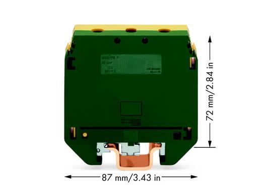Schutzleiterklemme 26 mm Schrauben Belegung: PE Grün-Gelb WAGO 400-499/499-176 10 St.