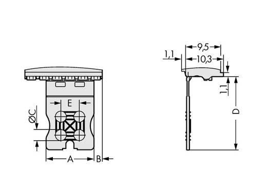 Griffplatte 2091-1600 WAGO Inhalt: 100 St.