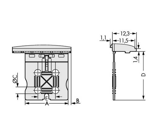 Stiftgehäuse-Platine 2092 Polzahl Gesamt 8 WAGO 2092-1358 Rastermaß: 5 mm 50 St.