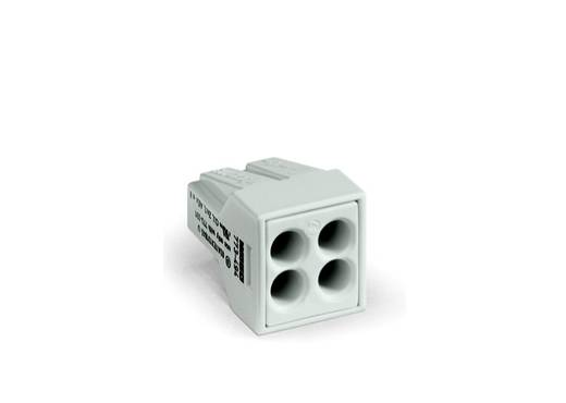 Dosenklemme starr: 0.75-2.5 mm² Polzahl: 4 WAGO 1000 St. Lichtgrau