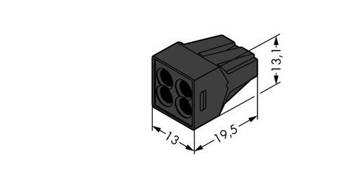 Dosenklemme starr: 0.75-2.5 mm² Polzahl: 4 WAGO 1000 St. Schwarz
