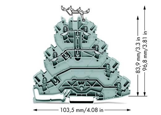 Vierstock-Durchgangsklemme 5.20 mm Zugfeder Belegung: L1, L2 Grau WAGO 2002-4111 25 St.