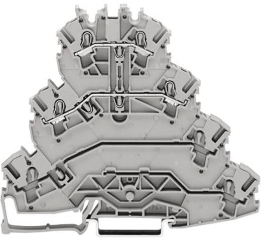 Vierstock-Durchgangsklemme 5.20 mm Zugfeder Belegung: L1, L2 Grau WAGO 2002-4141 25 St.