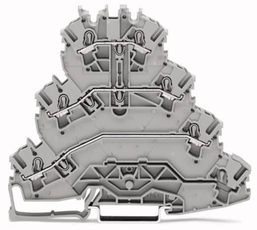 Vierstock-Durchgangsklemme 5.20 mm Zugfeder Belegung: L1, L2, L3 Grau WAGO 2002-4131 25 St.