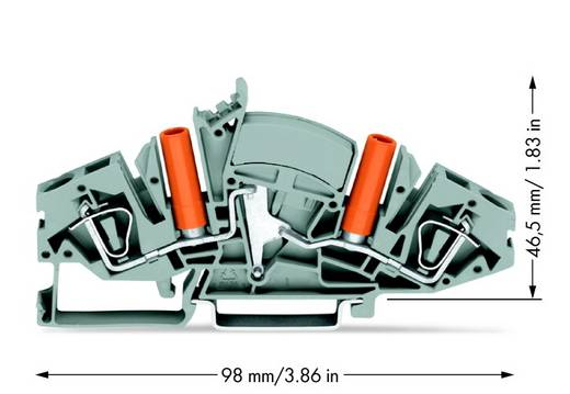Durchgangsklemme 8 mm Zugfeder Belegung: L Grau WAGO 282-841 20 St.
