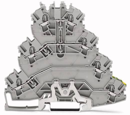 Vierstock-Durchgangsklemme 5.20 mm Zugfeder Belegung: L1, L2, L3, PE Grau WAGO 2002-4157 25 St.