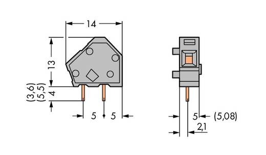 Federkraftklemmblock 2.50 mm² Polzahl 1 WAGO Rot 600 St.