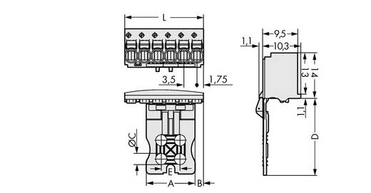 Stiftgehäuse-Platine 2091 Polzahl Gesamt 4 WAGO 2091-1104/002-000 Rastermaß: 3.50 mm 100 St.