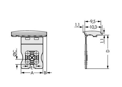 Stiftgehäuse-Platine 2091 Polzahl Gesamt 4 WAGO 2091-1354 Rastermaß: 3.50 mm 100 St.