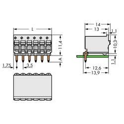 Konektor do DPS WAGO 2091-1375, 17.50 mm, pólů 5, rozteč 3.50 mm, 200 ks