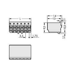 Konektor do DPS WAGO 2091-1125, 17.50 mm, pólů 5, rozteč 3.50 mm, 200 ks