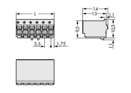 Stiftgehäuse-Platine 2091 Polzahl Gesamt 2 WAGO 2091-1122 Rastermaß: 3.50 mm 200 St.