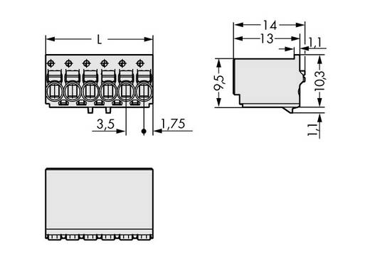 Stiftgehäuse-Platine 2091 Polzahl Gesamt 6 WAGO 2091-1126 Rastermaß: 3.50 mm 100 St.