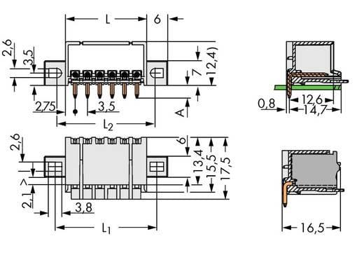 Stiftgehäuse-Platine 2091 Polzahl Gesamt 2 WAGO 2091-1422/005-000 Rastermaß: 3.50 mm 200 St.